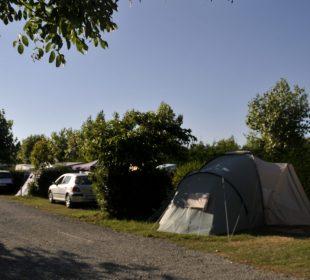 Vue des emplacements du Clos du Bourg, camping Notre Dame de Monts3 étoiles en Vendée